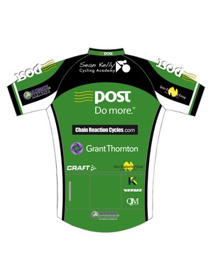 The An Post-Chain Reaction Cycles-Sean Kelly jersey (rear)