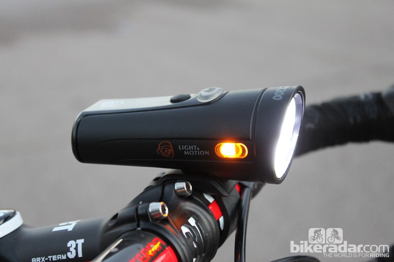 The Taz 1200 packs a lot of light into a compact package (note the amber side lights for peripheral visibility)