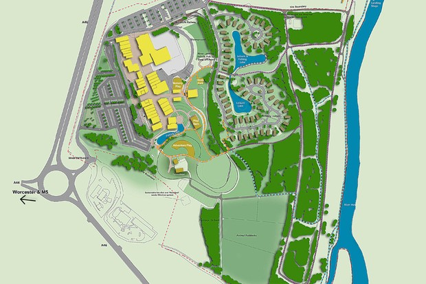 The planned IntoOutdoors site near Evesham, UK