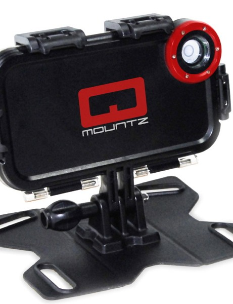 The Qmountz turns an iPhone into an action video camera