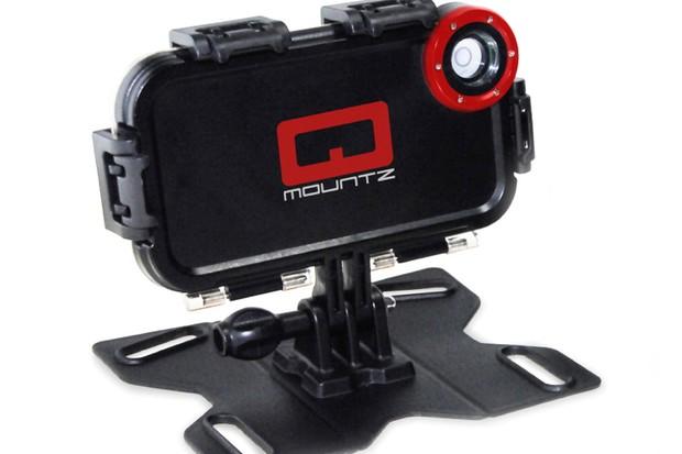 The Qmountz turns an iPhone into an action video camera
