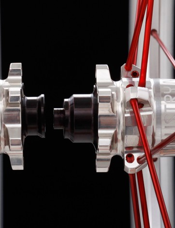 The new Torch hubs feature interchangable endcaps, allowing them to be compatible with most axle standards