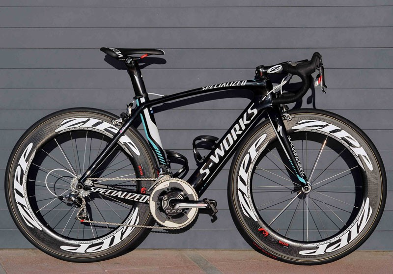 Mark Cavendish's 2013 Specialized McLaren Venge in the colours of his new team, Omega Pharma-QuickStep