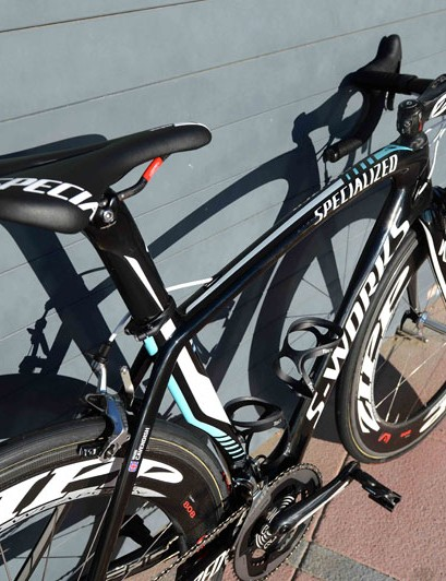 Cav sits himself on a Specialized S-Works Romin Team saddle