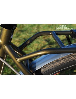 The welded-on pannier rack on the Tout Terrain Amber Road