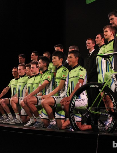 Many of the Liquigas-Cannondale Team sponsors—as well as most of the athletes—carried over to the Cannondale Pro Cycling squad