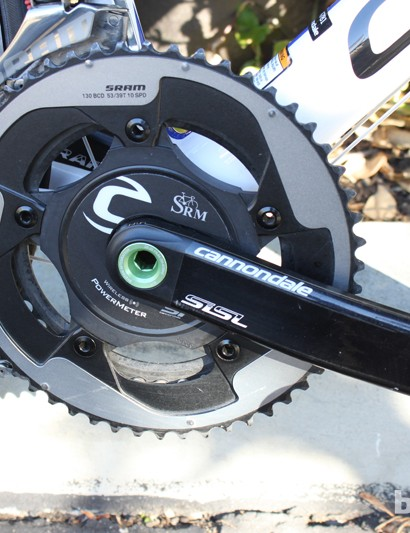 The team uses SRM power meters mated to Cannondale SILS2 cranks to track their progress