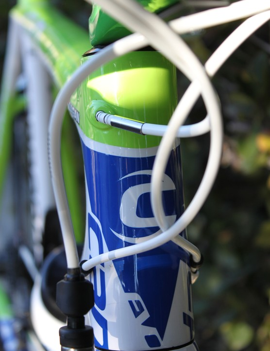 "Balancing weight with stiffness: the SuperSix Evo fork has a 1.125"" to 1.25"" tapered steerer (as opposed to larger diameter 1.125"" to 1.5"" tapered steerers)"