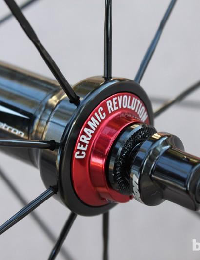 Vision wheels spin on ceramic bearings