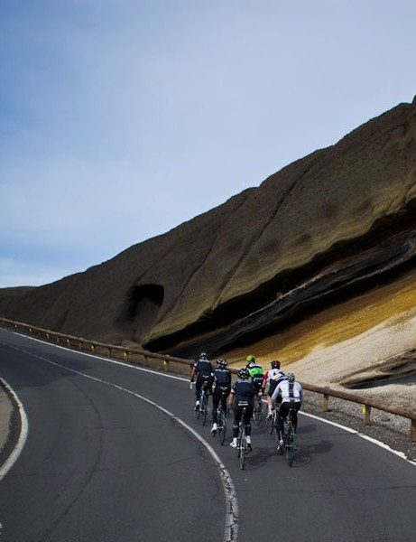 Neon Velo hosted a Rapha Condor Sharp training camp in Tenerife in December 2012