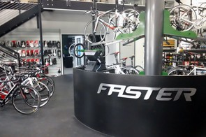 FASTER's retail space notably caters to a high-end clientele