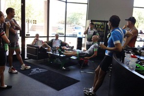 No shop group ride would be complete without a little lounging around afterward