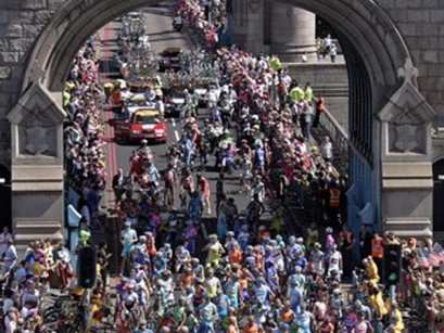 Riders will finish the third stage of the 2014 Tour de France in London before heading to France via Eurostar