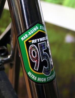 Reynolds 953 steel tubing - their top range racing tubeset