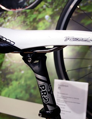 San Marco Regal-e saddle up top on a PRO Vibe seatpost