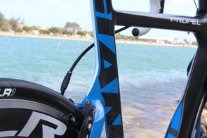 The seat cluster is admirably sleek on the new Giant Propel