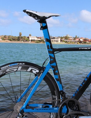 Not surprisingly, Giant equips the top-end Propel Advanced SL with an integrated seatmast