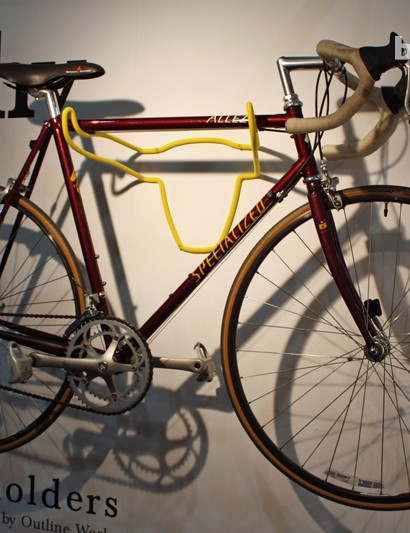 The 'Manuel the Bull' Trophy rack holds a classic Specialized Allez