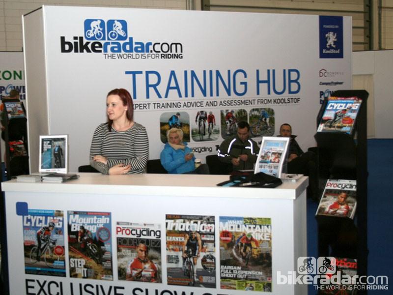 The BikeRadar Training Hub at the London Bike Show