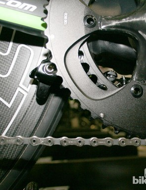 And the rear brake under the chainstays