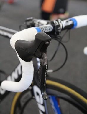 Shimano has already introduced its new Dura-Ace Di2 9070 group but teams at the 2013 Tour Down Under are still using the older 7970 version for now