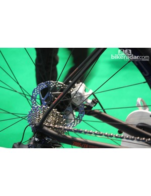 Shimano mechanical discs are at each end of the Rose Xeon DX-3100