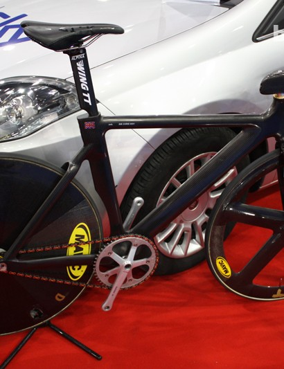 Sir Chris Hoy's weapon of choice at the Athens Olympics. This UK Sport Mark I track bike had a price tag of £100K