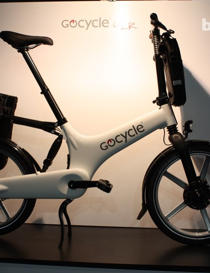A Gocycle fully laden for commuting…