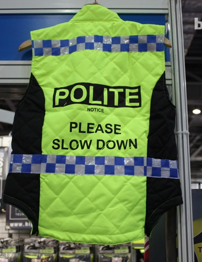 Police impersonation.. Controversial clothing from High Visibility performance cycling wear