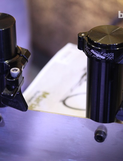 Low and high seat tube-mounted chain devices from Hope