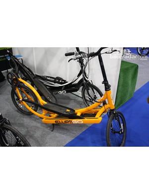 The ElliptiGO cross-training bicycle was available for demo