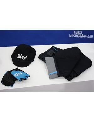 Rapha/Team Sky jeans, cap and gloves