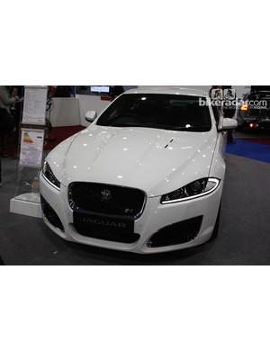 Jaguar had the XFR model on display