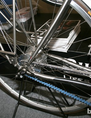 A carbon belt drive and 14-speed Rohloff internal hub should keep drivetrain maintainence low