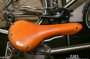 A Brooks saddle for long distance comfort