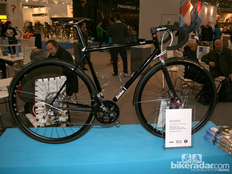 This stunning bike is a Rapha Continental, built by Tom Donhou for Sam Humpheson using Reynolds 853 tubing