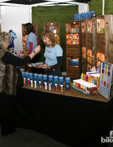 The Nuun stand was doing a roaring trade