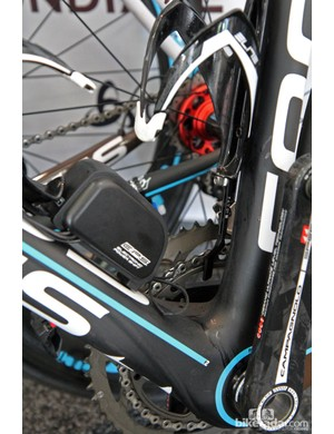 Campagnolo offers its own chain catchers but Ag2R-La Mondiale is using these machined aluminum widgets instead