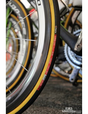 Argos-Shimano is another team that has made the move to wider rims and correspondingly more voluminous tires for 2013