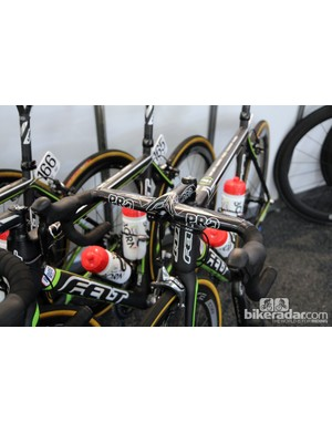 Integrated cockpits are still rare in the pro peloton but they do pop up from time to time