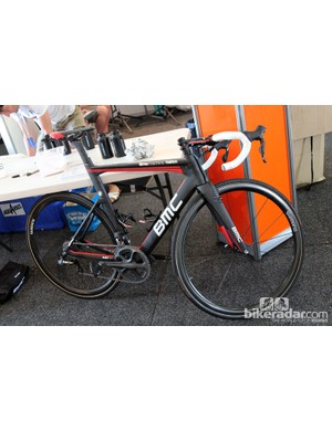 BMC once again packed the aero TimeMachine TMR01 road bikes, but not many of the riders are using them