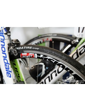 Even top pro riders use clinchers for training. Cannondale also had some spare bikes for stage one fitted with clinchers from new sponsor Vision