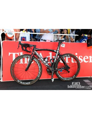 Lotto-Belisol's Ridley Noah FAST at the start of stage one of the 2013 Tour Down Under