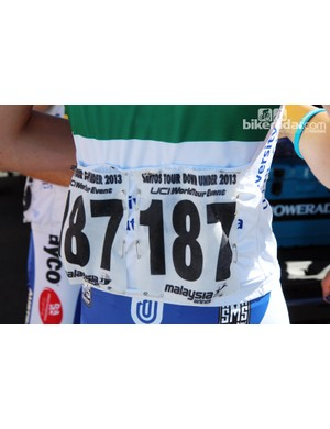 Cloth numbers are used at the Tour Down Under