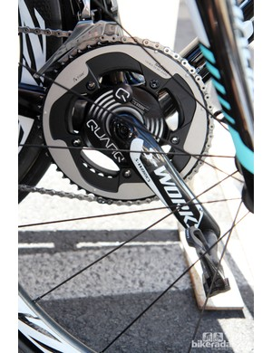 Omega Pharma-QuickStep's new Specialized carbon fiber crankarms boast a more bulbous shape than in years past