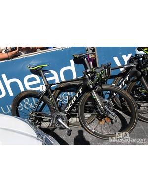 The Scott Foil of 2012 Tour Down Under winner Simon Gerrans (Orica-GreenEdge)