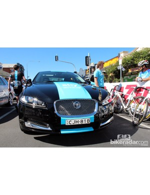 Most teams relied on rental vehicles for the Tour Down Under but Sky made sure their regular cars were on hand