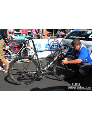 UniSA had no fewer than five brands on hand at the Tour Down Under