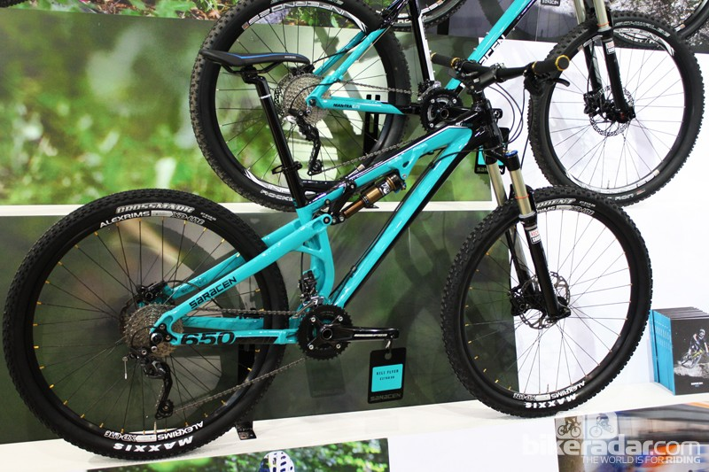 The Yeti-like paintwork helps to set the Kili Flyer apart from other Saracen full suspension models