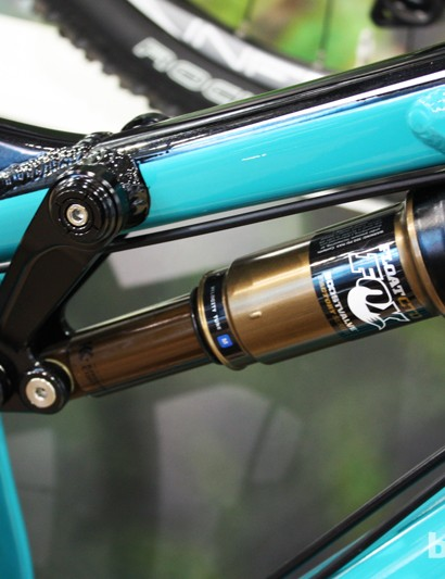 The Fox Float CTD rear shock offers 120mm of travel